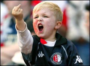 rotterdam, feyenoord, middle finger