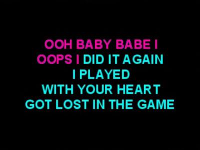 karaoke lyrics