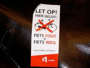 fiets fout fiets weg